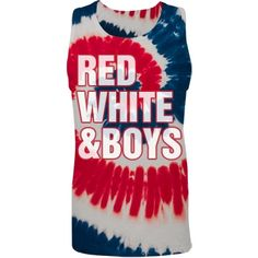 A Girl's 4th of July | For all the girls out there that love America and American boys. This is the perfect tank top for you! The tie-dye pattern with USA colors will bring the boys to you! Perfect for the fourth of July!