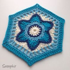 Crochet hexagon pattern. Flora Hexagon | By Saraphir
