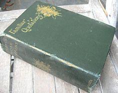 Antique book Bartlett's Familiar Quotations by LittleBeachDesigns, $36.00