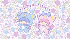 Little Twin Stars May 2019 (for Android) Sanrio Wallpaper, Star Wallpaper, Hello Kitty Wallpaper, Little Twin Stars, Sanrio Danshi, Hello Kitty Images, Star Cloud, Sanrio Characters, Cute Wallpapers