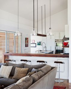 perpendicular lights Porch House - modern - kitchen - kansas city - Hufft Projects