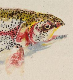 RAINBOW TROUT Gyotaku Fish Print