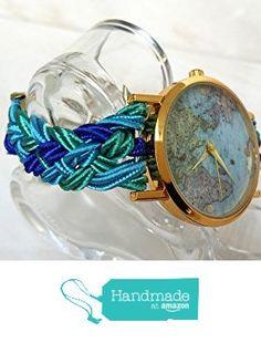 Orologio da polso donna intrecciato turchese Gioielli Corda Soutache Quadrante…