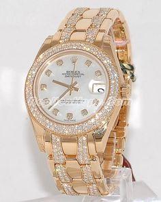 Rollex Gold Elegant Watch for Women.