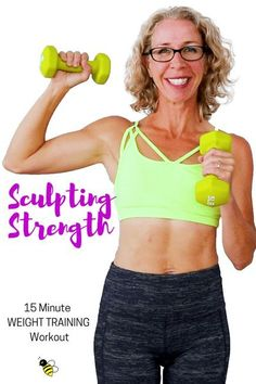 15 Minute SCULPTING STRENGTH _ Weight Training Workout with Warm Up FREE Home Workout on YouTube from Pahla B Fitness