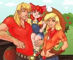 Humanized Apple Family!