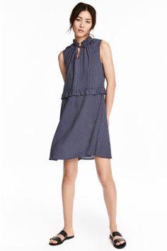 Платье с рисунком - Синий - Женщины   H&M RU