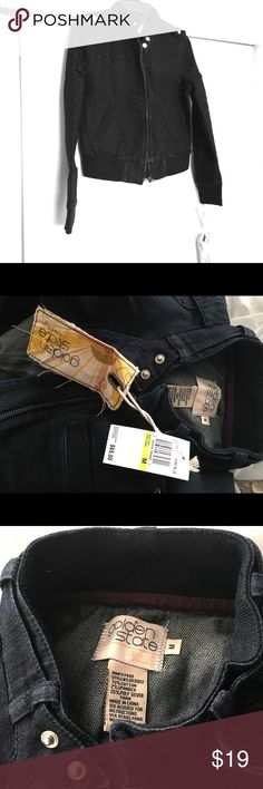 NEW Golden State Denim Jacket Tags still attached. Dark denim with specs of subtle glitter throughout. golden state Jackets & Coats Jean Jackets