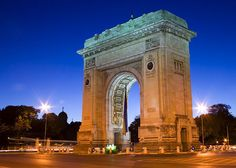 Arcul de triumf - Bucuresti - Romania The Places Youll Go, Places To Visit, Bucharest Romania, George Washington Bridge, Homeland, Diy Art, Portal, To Go, Country