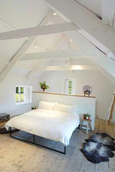 Attic | Bedroom | White | Interiors