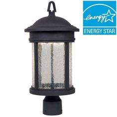 Designers Fountain Eagle Collection Outdoor Oil Rubbed Bronze Post Lantern-LED31136-ORB - The Home Depot