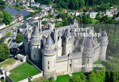 Picardie,, Pierrefonds, the castle (aerial view)