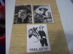 PHOTO GREETING CARD GENE AUTRYCISCO KIDPANCHO Cowboy