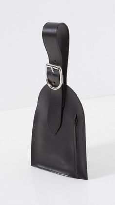 MM6 Maison Martin Margiela Oversize Luggage Tag in Black | The Dreslyn