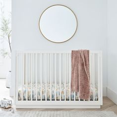 Emilia Convertible Crib - White