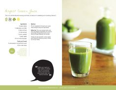 Getting Started with Kris Carr; the perfect green juice