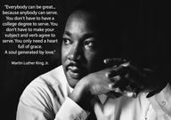 3-Everybody can be great... because anybody can serve... You only need a heart full of grace. A soul generated by love.--Martin Luther King, Jr.-- Lesson plans, articles and resources at http://racebridgesforschools.com
