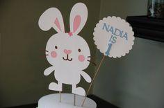 Bunny Cake Topper Bunny Smash Cake Bunny Birthday by GiggleBees, $15.00