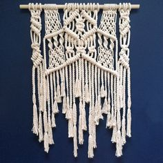 Large Contemporary Macramé Wall Hanging with Tassles by fishwarp