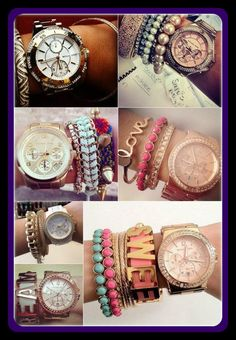 loving the rose gold watch and all the variations you can rock it with