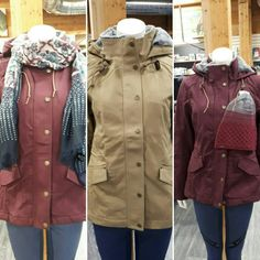 Venez essayer les nouvelles vestes de Noble Outfitters en magasin ! Raincoat, Jackets, Fashion, Shop Local, Baby Born, Products, Rain Jacket, Down Jackets, Moda