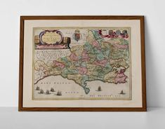 Map of Dorset, originally created by Willem Janszoon Blaeu, now available as a 'museum quality' poster print.  #BritishIslesMap #BritishSeasideMap #dorset #DorsetOSMap #EnglishGenealogy #EnglishMap #EnglishRiviera #homedecor #travelposter #interiordesign #hahnemuhle #oldmap #OldBournemouth #OldDorsetMap #OldMapDevon #OldMapDorset #PooleAntiqueMa #VintageMapDorset