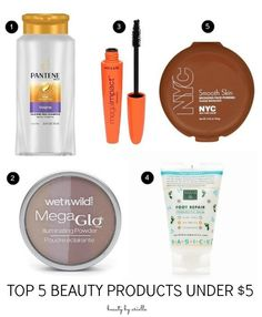 Top 5 Beauty Products Under $5