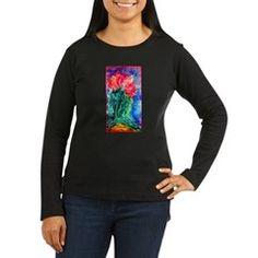 Cactus, bright, art, Women's Long Sleeve Dark T-Sh