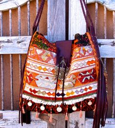 Antique Textile Handbag with European leather and by SpiceTrade, $335.00