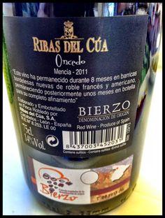 El Alma del Vino.: Ribas del Cúa Oncedo Mencía 2011.
