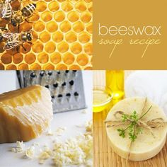 Beeswax Soap Recipe - naturally healing, antibacterial and anti-inflammatory, acne & rash, ocking in moisture inside the skin. almond, canola, coconut, olive,soybean oils, beeswax, lye and honey