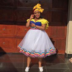 Pedi Traditional Attire, Sepedi Traditional Dresses, South African Traditional Dresses, Latest African Fashion Dresses, African Dresses For Women, African Wear, Seshoeshoe Dresses, African Patterns, African Prints