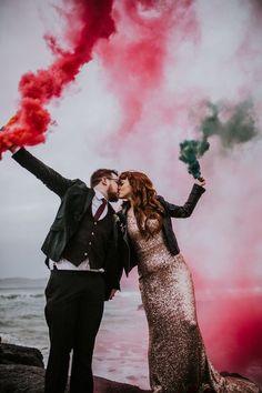 | Sparkle & Smoke Bombs | A Rock N Roll Wedding |