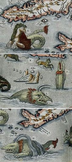 Hunting Giant Octopuses, Flying Turtles, and Other Ancient Sea Monsters - The Whimsy of Ancient Maps.