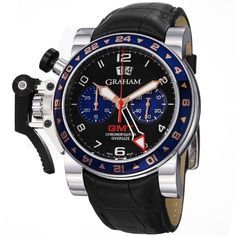#1: Seve for Graham Chronofighter Oversize GMT Steel Mens Watch 2OVGS.B26A.C118 for Sale