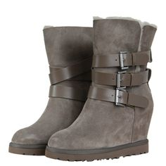 Ash 88502 Yes Womens Fleece Lined Wedge Boots AW12 Taupe from www.hypedirect.com Ugg Classic Tall, Wedge Boots, Uggs, Taupe, Style Me, Footwear, Nordstrom, Wedges, Shoes
