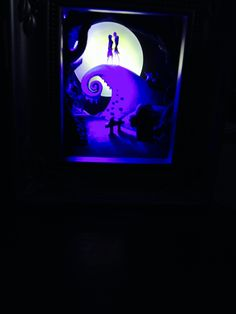 Jack and Sally about go to kiss shadow box