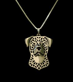 Handmade pendant necklace, with 17 inch twisted chain. Show your Rottweiler some…