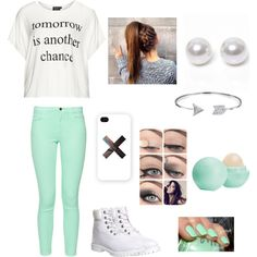 Untitled #149 by michaela0415 on Polyvore featuring Replace, French Connection, Timberland, Nouv-Elle, Bling Jewelry, Samsung, Eos and claire's