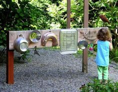 DIY Outdoor Music Station for Kids