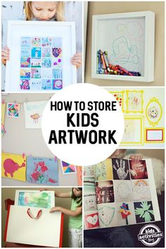 How to Store Kids Artwork