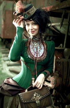 She looks so stylish und fresh, could be Adèle Blanc-sec, #celiaalicewild, #steampunk style