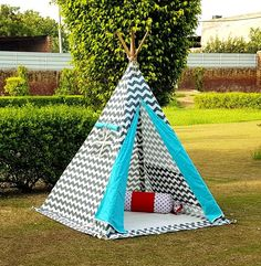 Buy Kids Tents and Tipis Kids Teepee Tent, Play Tents, Teepees, Tent House For Kids, Artist Wall, Hand Painted Walls, Braids For Kids, Kids Zone, Kid Spaces