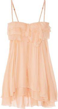 ShopStyle: Jenny Packham Tiered silk-chiffon chemise