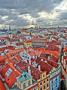 Prague's view from the Clock tower