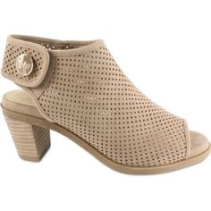 Lindsay Phillips Ansley Perforated Taupe Interchangeable Peep-Toe Bootie