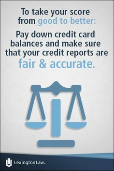 Credit-Tip-Tuesday! Even people with good credit could still benefit from taking their credit score up another notch. Fix Your Credit, Credit Score, Lexington Law, Scores, Tuesday, Benefit, Lettering, Tips, People