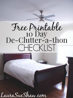 Decluttering is a great thing to do before cleaning- it means less to clean! This Checklist will help you go through all your clutter!