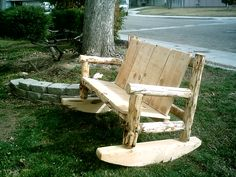 You can never go wrong with a good ol' rocking chair. Especially outside!