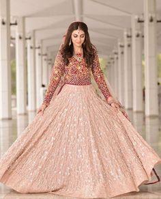Fatima Riaz in a #custom #saniamaskatiya #lehngacholi. #luxepret#bridals#formals